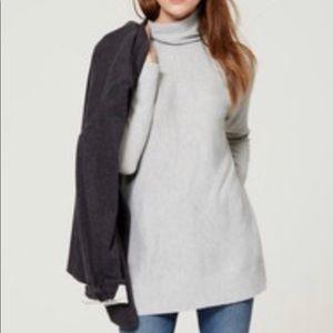 Gray LOFT relaxed turtleneck sweater